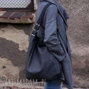hand-made na ramię iks vege grafit czerń