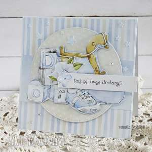 kartka urodzinowa dla chłopca 159 - białe scrapbooking urodziny