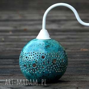 ball lampa kinkiet turkusowy zamówienie dla p marty, lampa, kinkiet, kula