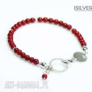 Prezent Czerwony Koral Mini - Bransoletka, bransoletka, koral, czerwona, bernaś
