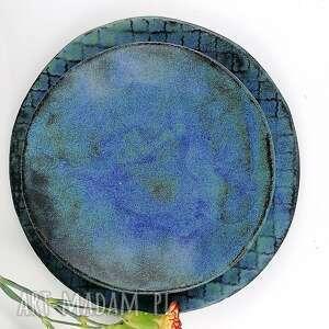 Zestaw ceramiczny ceramika polepione talerz, miska, patera,