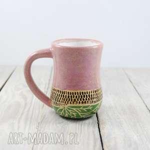 Prezent Kubek ceramiczny sgraffito, do-kawy, do-herbaty, prezent, kawa, herbata,