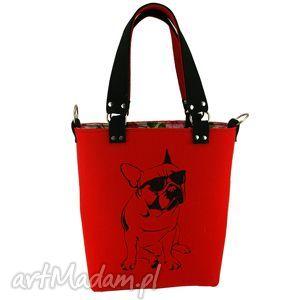 oryginalny prezent, royal trend buldog in red xl, royaltrend, filc, haft