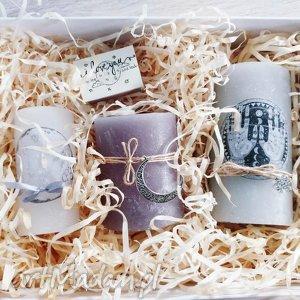 zestaw świec moonbox, pudełko, świece, świeczka, moon, księżyc