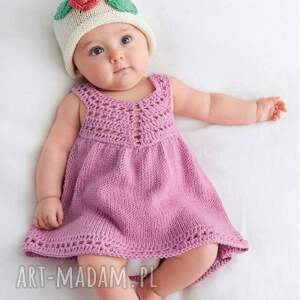 sukienka avila, sukienka, bawełniana, dziergana, prezent, dla dziewczynki