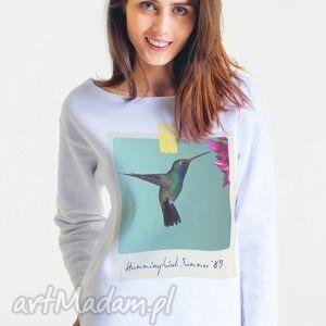 koliber - bluza damska oversize biała, oversize, bluza, damska, moda, projektant