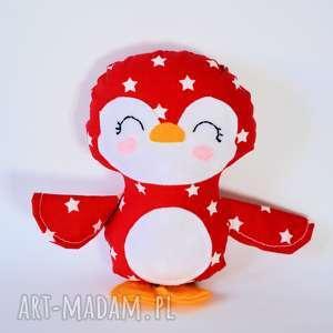 pingwinek dominik, pingwinek, gwiazdka, dziecko, zabawka, maskotka, przytulanie