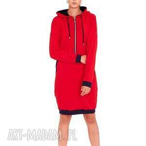 sukienka katerina czerwona, sukienka, dres, bluzki, spodnie, bluzy, t shirt