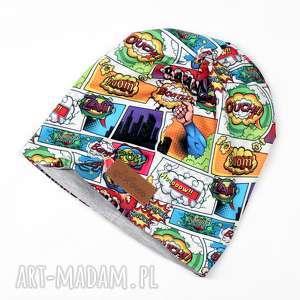 czapka ciepła komiks beanie unisex, czapka, beanie, ciepła, kolorowa
