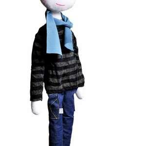 franek chłopak z sercem, chłopak, szmacianka, eko, zabawka edukacyjna, bawełna