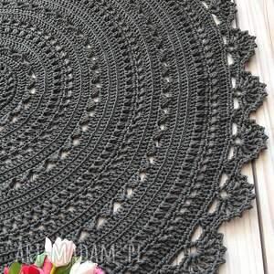 dywan mandala lace 100 cm, wzór mandala, ażurowy dywan, bawełniany