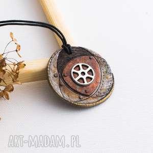 Steampunkowy wisior, steampunk, wisiorek, steampunkowy, trybik, malowany
