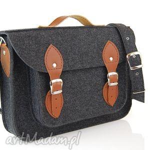 ręcznie zrobione filcowa torba - personalizowana z grawerowaną dedykacją logo lub