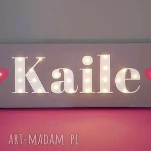 napis led twoje imię obraz dekoracja lampa personalizowany prezent na urodziny dla