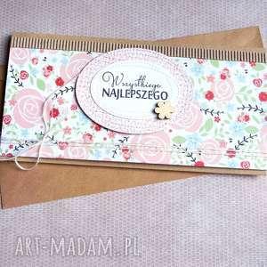 kartka - kopertówka :: kwiecista, urodziny, imieniny, ślub