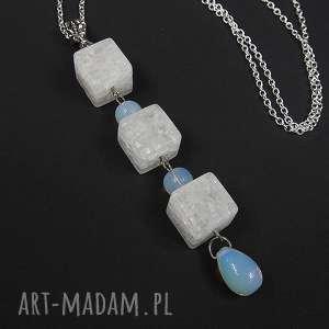 0050 naszyjnik wisior kryształ lodowy i opal wisiorki angelo