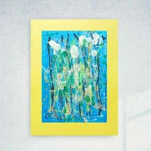 annasko abstrakcyjna grafika na ścianę, oryginalna abstrakcja do holu