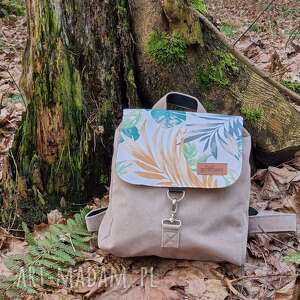 plecak leśny z klapką, plecak, pojemny, ściągany, wiosenny, kolorowy, wymienny