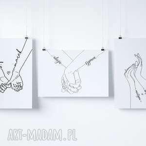 plakat miłosny złączone ręce 20x30 cm a4, prezent, urodziny, walentynki