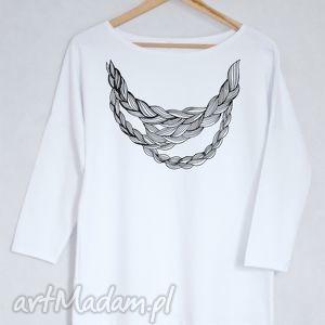 WARKOCZ bluzka bawełniana oversize L/XL biała, bluzka, bluza, koszulka, biała