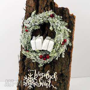 Święta prezent. Kartka bożonarodzeniowa - wianek 2 scrapbooking