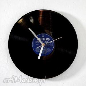 zegar vinyl clock, vintage, zegar, dom, retro, płyta, prezent dom