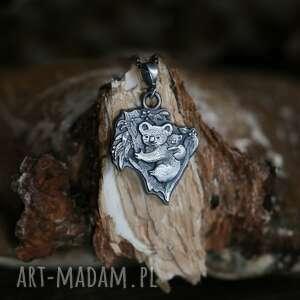 ręcznie wykonane wisiorki wisior misie koala ze srebra próby 925