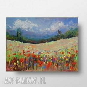 magiczna łąka-pastele suche a5, łąka, papier, pastele, rysunek
