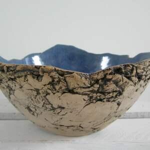 artystyczna miska jak skała, ceramiczna, miska, dekoracyjna, na owoce
