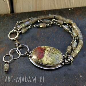 agat i dno oceanu, mszysty, labradoryt, unikatowa biżuteria, srebrna