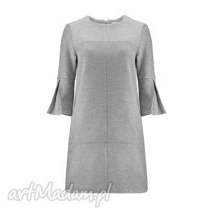 b0e5bfc999 ... sukienki sukienka z wełny i kaszmiru rozszerzanymi rękawami 3 4