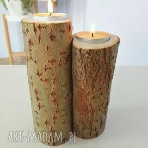 zakochane świeczniki drewno - ,świeczniki,zakochane,drewno,drewniane,eko,