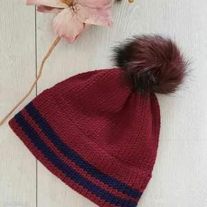 czapki gruba ciepła czapka z podwójnym rondem, zimowa czapka