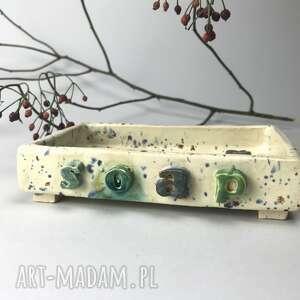 ceramika ceramiczna mydelniczka ręcznie robiona soap, akcesoria łazienkowe