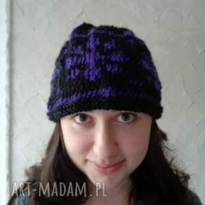 limochka piękna autorska czapka - gwiazdka, unikat, ręczniewykonana, wełna
