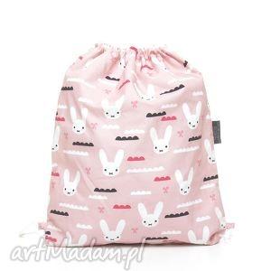 pracownia-milutka plecak worek przedszkolaka króliczki - mufka