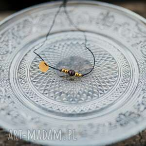 w hand works bransoletka granat i hematyty na sznurku, granat, hematyt