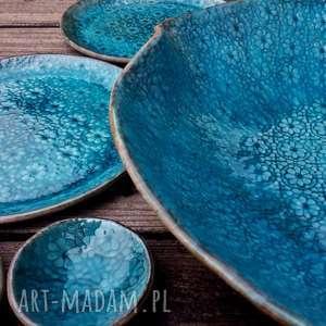 ceramika ocean zestaw naczyń ceramicznych na zamówienie dla pauliny, naczynia