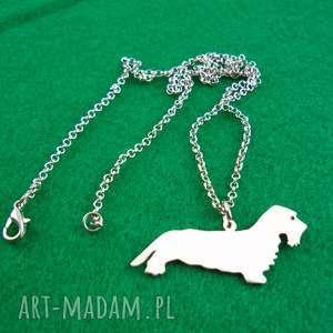 naszyjnik jamnik szorstkowłosy pies nr 72, naszyjnik, pies, rasy-psów, rękodzieło