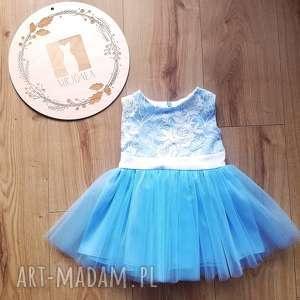 sukienka tiulowa dla dziewczynki, naroczek, nachrzest, sukienkadziecieca