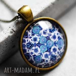 orientalne płytki łańcuszek brąz, klasyka, orient, vintage, turkus, granat, medalion