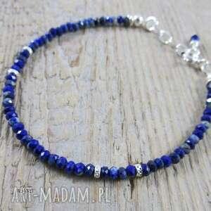 ręcznie zrobione delikatna bransoletka z lapis lazuli 357