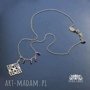 oryginalny prezent, oriental look, naszyjnik, rozeta, pozłacany, ażurowy