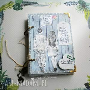 ręcznie robione scrapbooking notesy notes/ sekretnik/ dla niej i dla niego