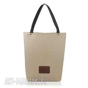torebka shopperka 1216, shopperka, pikowana, pojemna, lekka, duza, święta prezent