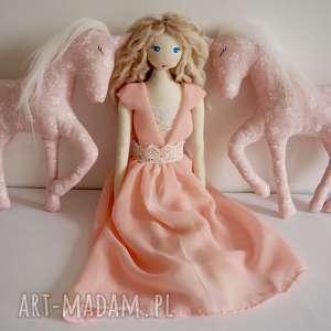 Lalka #166, przytulanka, szmacianka, naturalna, bawełniana, księżniczka, jednorożec