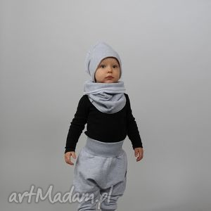 spodenki szare bawełnianie ze ściągaczami i kieszonkami, bawełna, szara