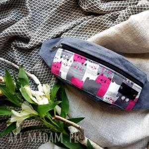 ręcznie zrobione nerki nerka rózowa koty szara