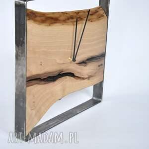zegar loft - kwadrat 40 cm, zegar, loft, kwadrat, ścienny, drewniany