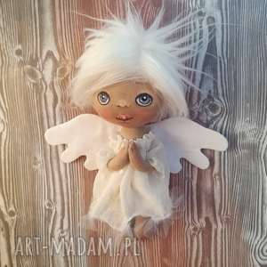 dekoracje aniołek dziewczynka - dekoracja tekstylna, dziecko, rozczochrane, unikat
